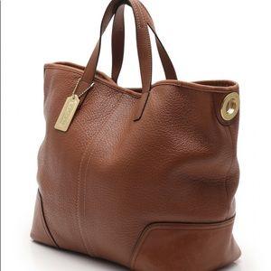 NEW Coach Hadley Luxe Grain Leather Duffle Bag